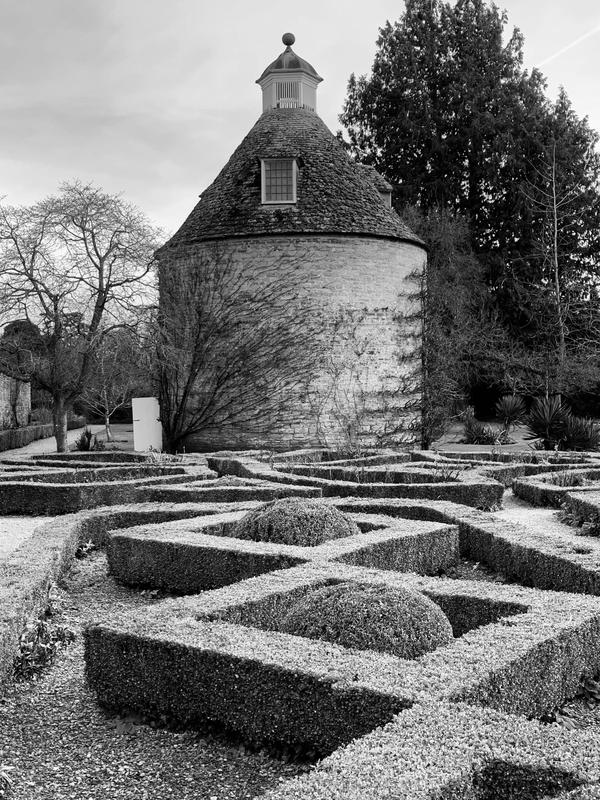 Dovecote at Rousham, Black and White photograph