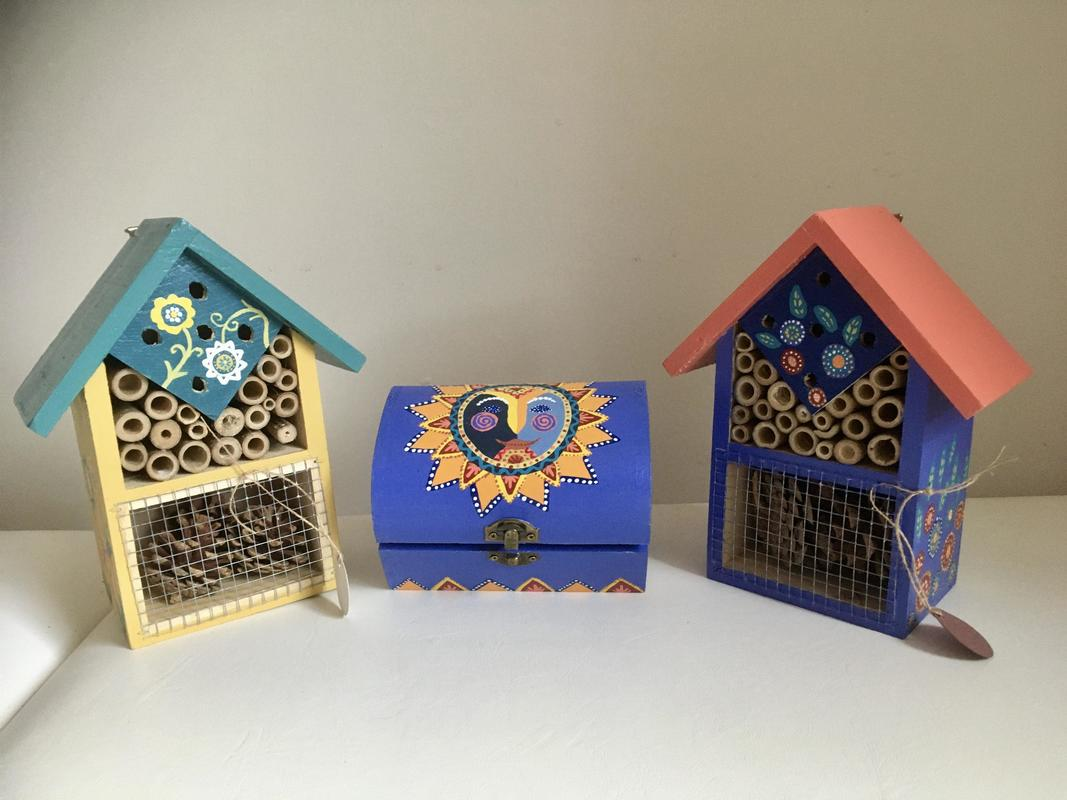 Hand painted wooden crafts between £10 & £25