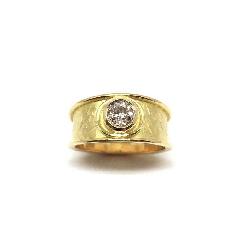 18ct gold & diamond ring.