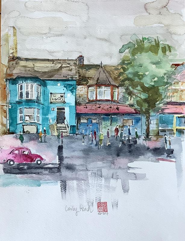 Crowley Road. W29.5xH37cm. Watercolour on paper. £150 framed.