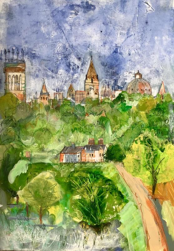 Oxford from South Park. W29.5xH42cm. £150 framed.