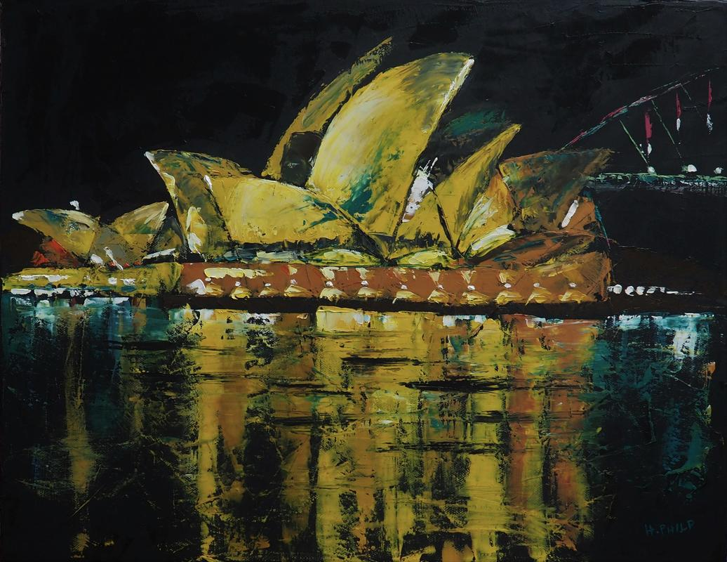 """After Midnight"" - Australian Series. Oil."