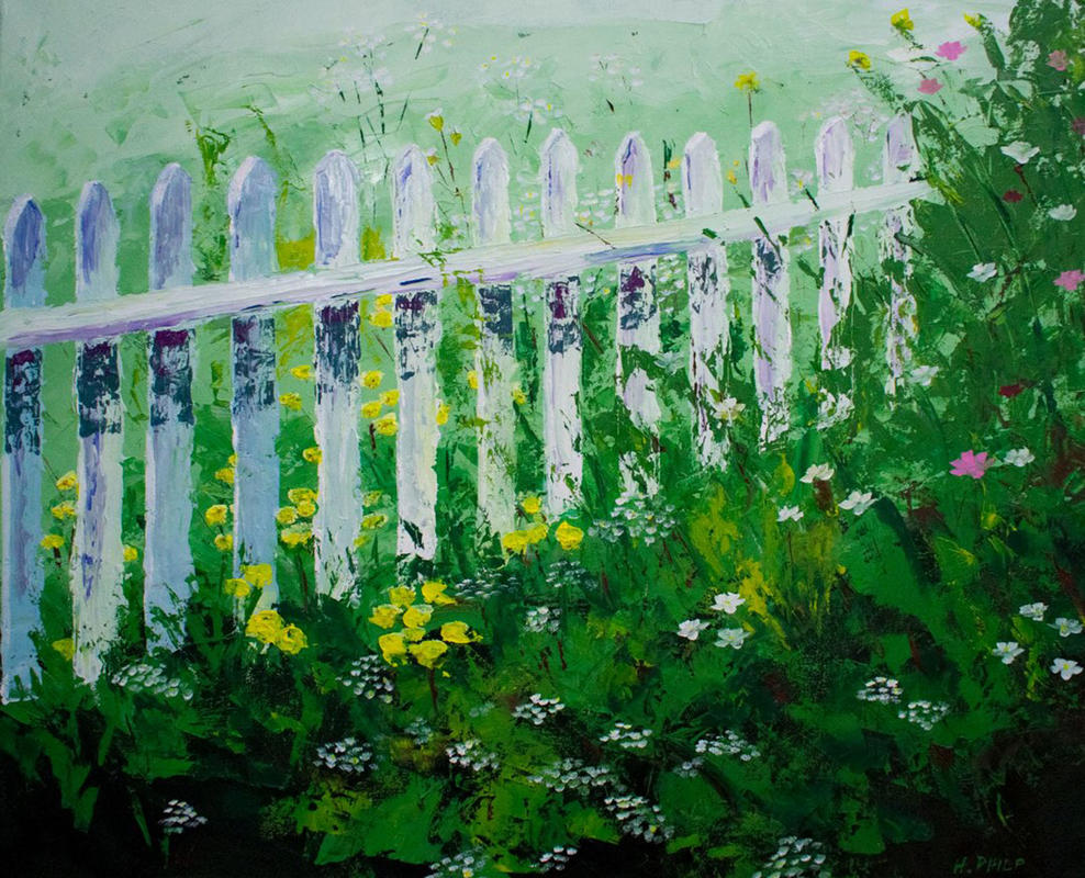 """Bottom of the Garden"" -  Garden Series.Oil. Palette knife."
