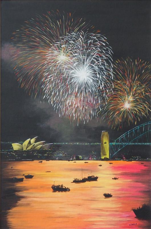"""New Year"" - Australian Series. Oil."