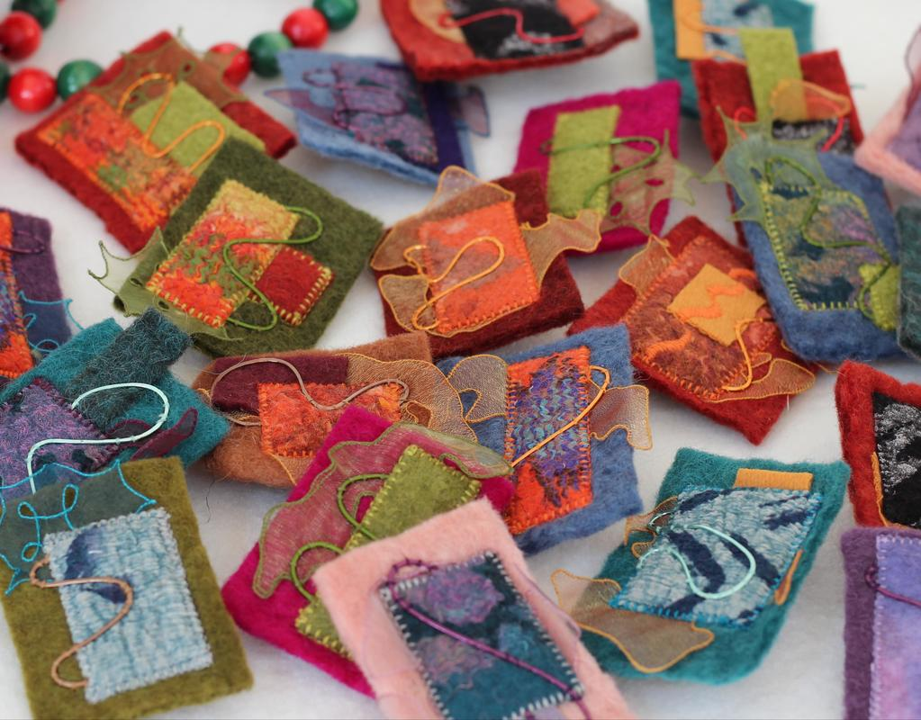 Felted brooches - H MacRitchie