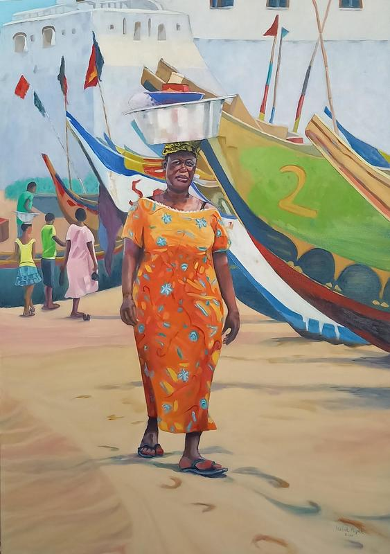 Cape Coast Reflections - Oil On Canvas - 1000 x 700 mm - Sold