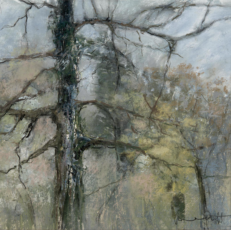 Shotover in Winter  Mixed media. 50x50 cms £550