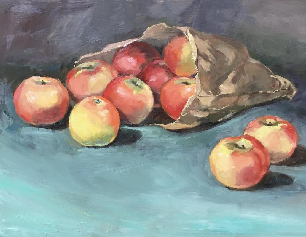 Discovery Apples. Oil. 30x40 £375