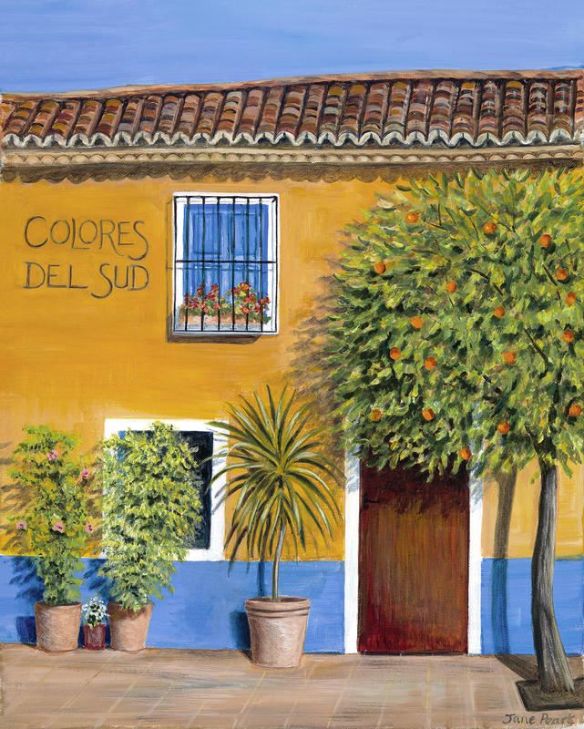 Colores del Sud, Andalucia acrylic painting