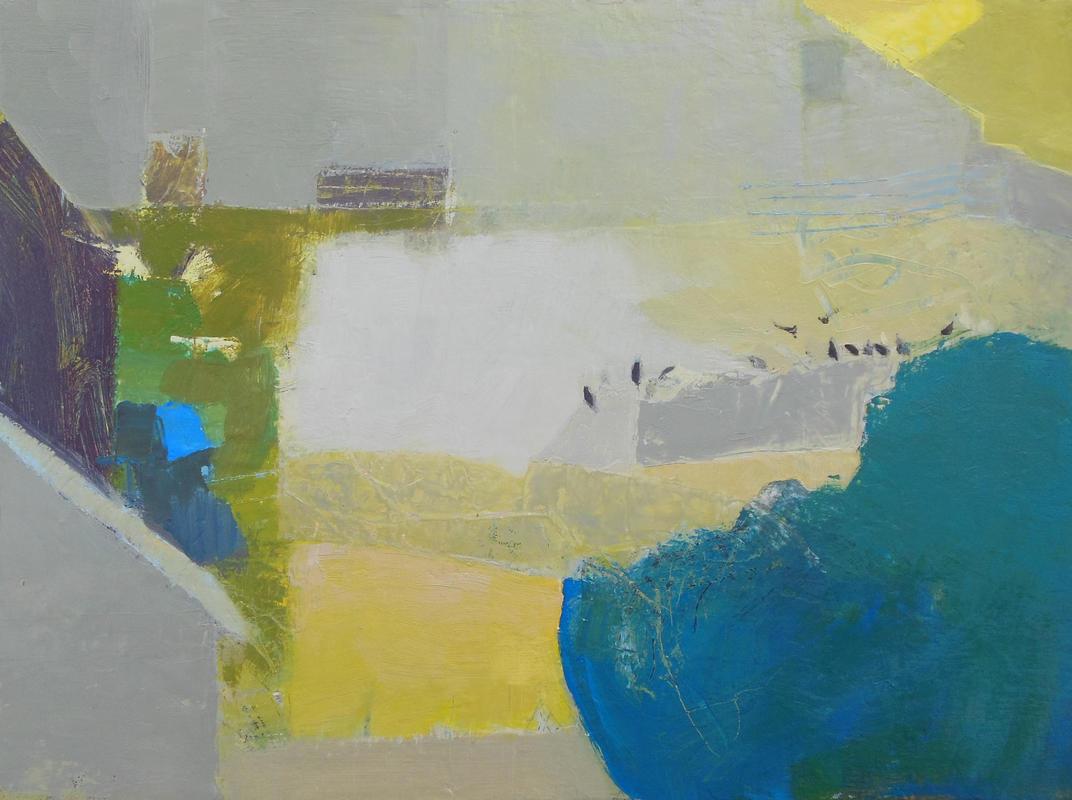 Barn with Blue, oil on canvas, 30cm x 40cm