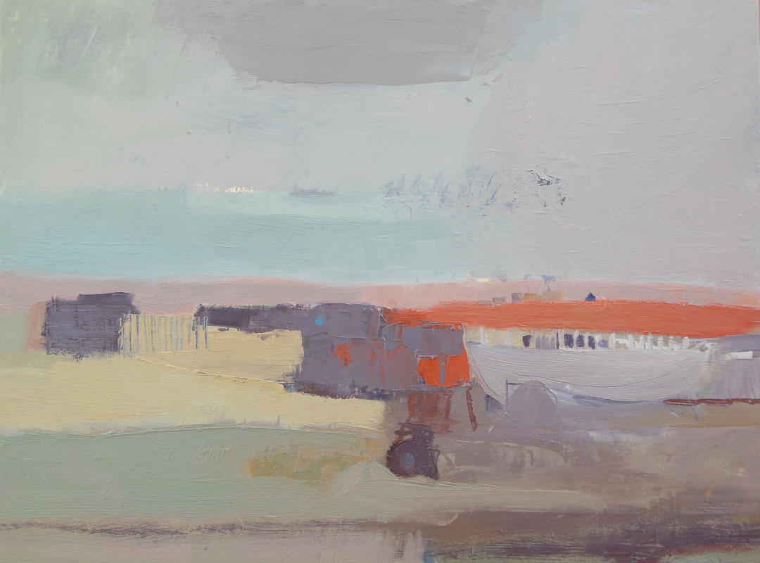 Dungeness, Red Bank, oil on board 30cm x 40cm