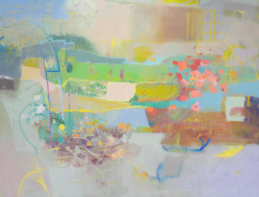 Lockdown Garden Series - May Garden, oil on canvas