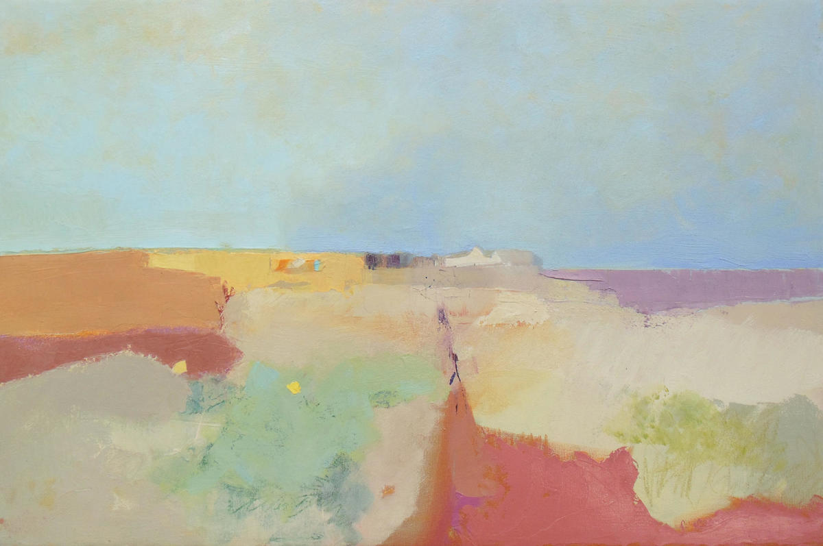 Shingle Street Series, The Orange Towel, oil on canvas