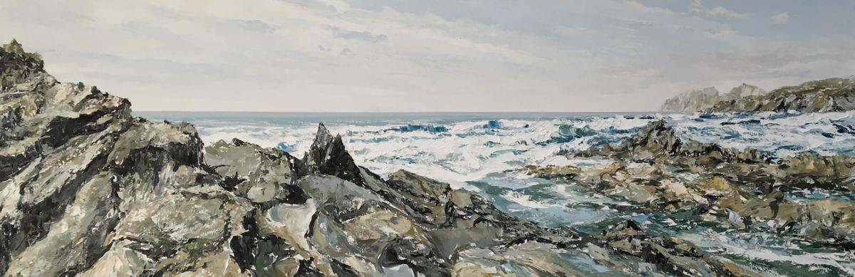 "St Finian's Bay - Wild Atlantic Way 72""x 24"" oil on canvas"