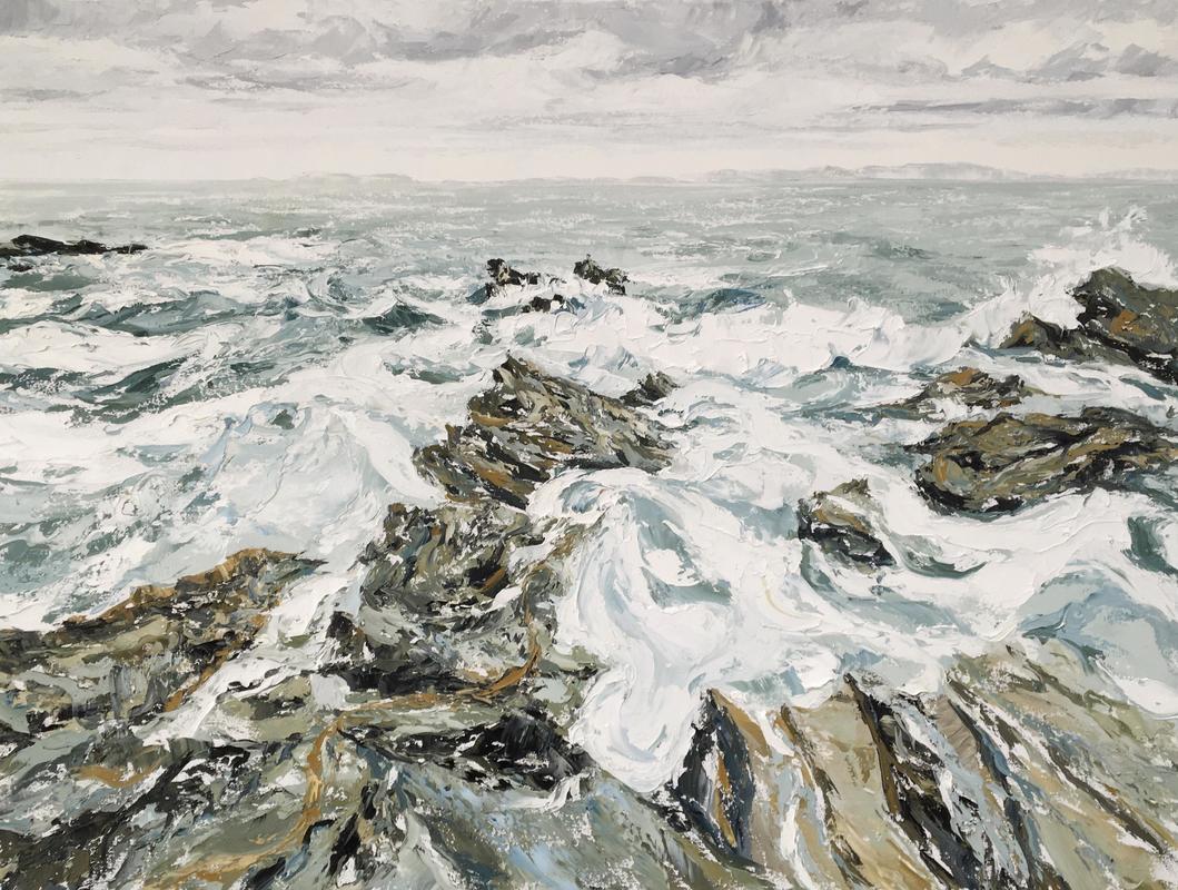 "Wild Atlantic Way 40""x30"" oil on canvas"