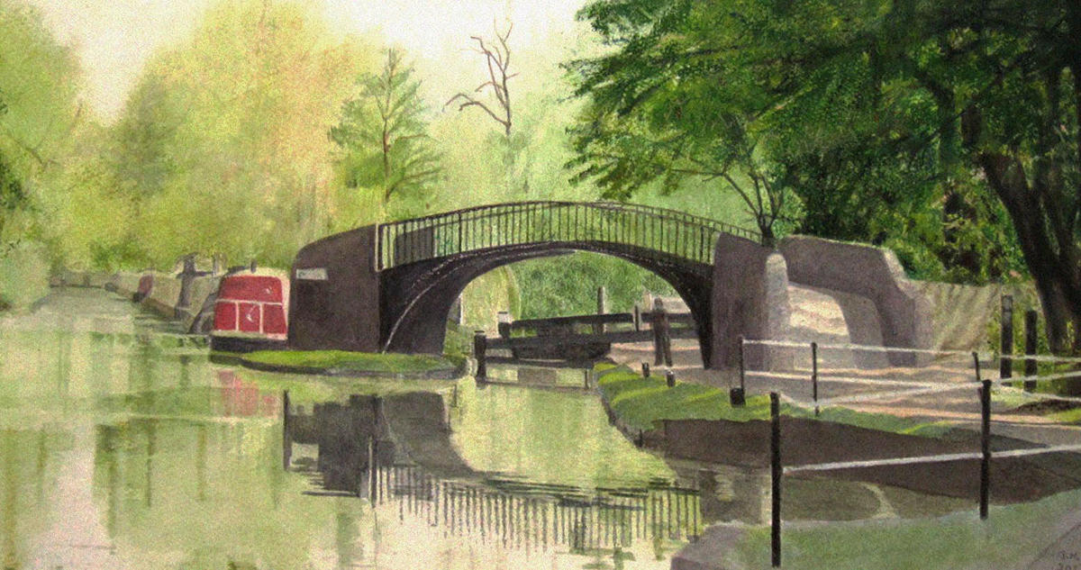 April on the Oxford Canal, 38x60, £320