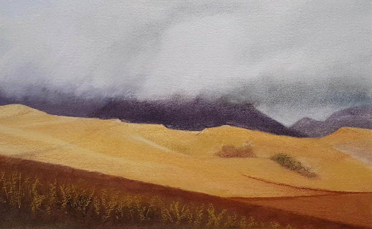 Storm Clouds over Blencathra, 55x76, £380