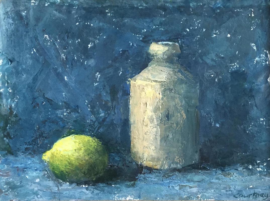 Still Life: Lemon and Vase
