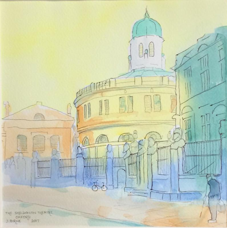 Sheldonian Theatre.  £50.  Watercolour. 40 x40cm.