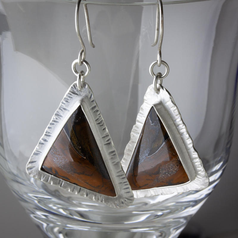 Sterling-silver and tiger's eye earrings £78