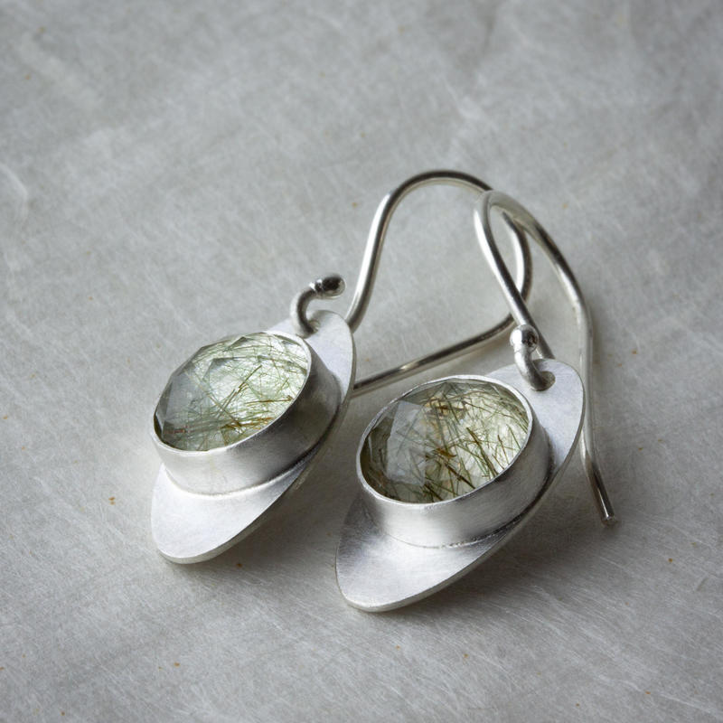 Sterling-silver and rutilated-quartz earrings £69.50