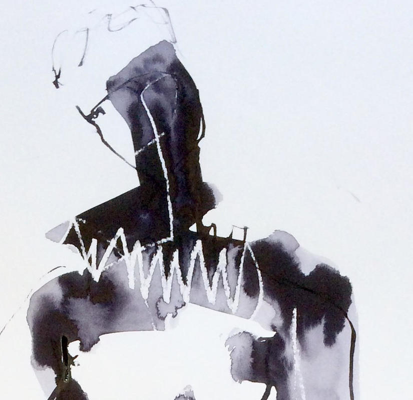 See Hamlet being drawn under The Artist At Work
