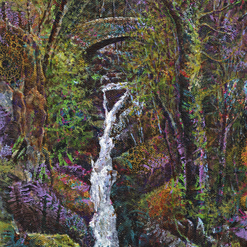 Aira Force (detail), acrylic, 20 x 50 cm (wxh)