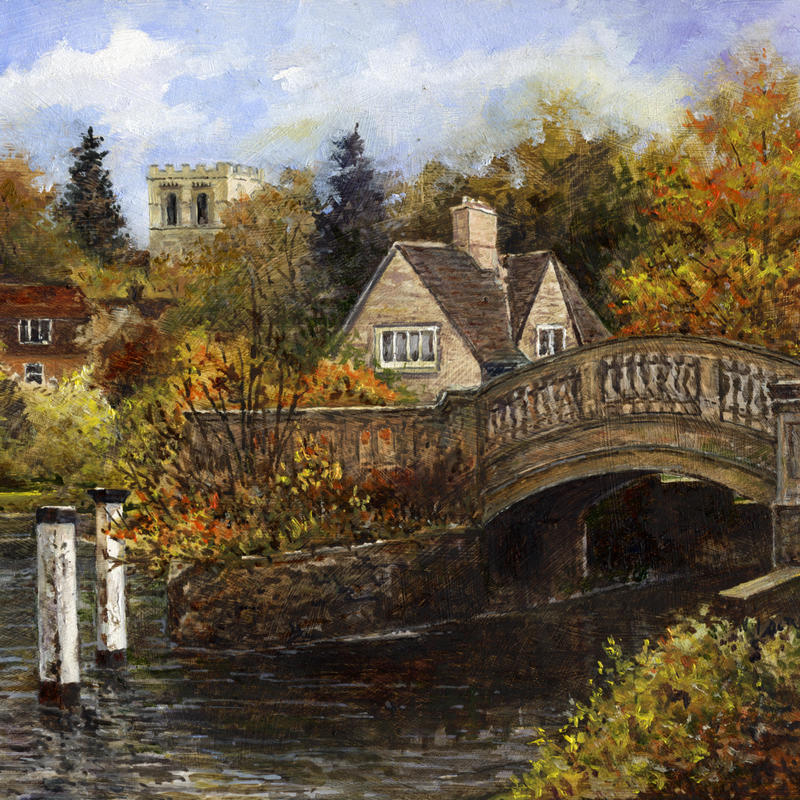 Roving Bridge, Iffley Lock (details), oil on panel, 12x8 inches (wxh) £145 framed