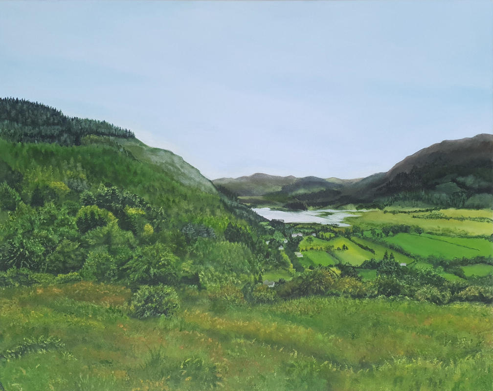 Buttermere Lake. This was a big challenge I was set by a client. I've never steered to green as a colour and during lockdown I was pushing and challenging myself and asked my followers to do the same...and Buttermere Lake arose. Prints available from £75, greetings cards £3
