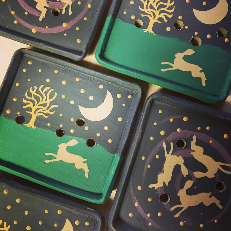 Moonhare soap dishes