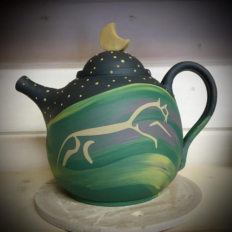 White Horse Teapot