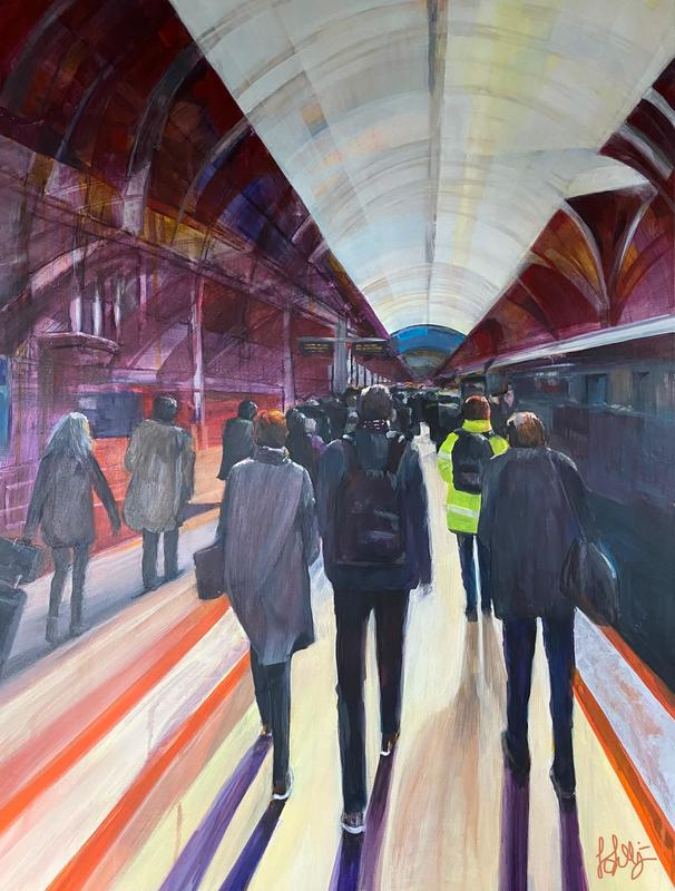 Jo Lillywhite 'The Old Commute' £700 60x80cm acrylic on canvas