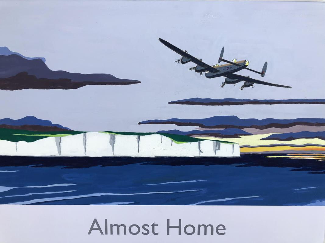 Almost Home. Railway poster style by John Seaton. Price £100.