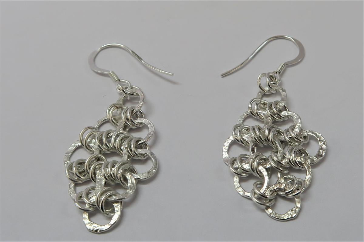 Japanese chain mail earrings - £40