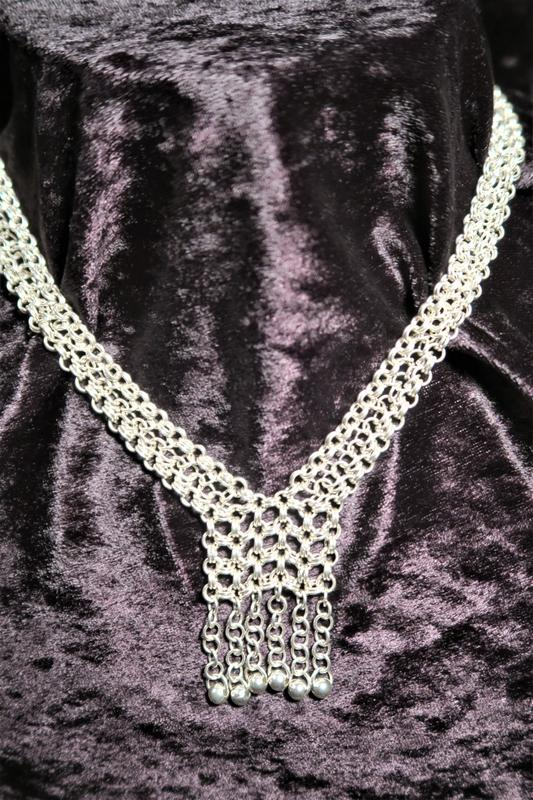 Chain mail necklace using Islamic chain mail - £150