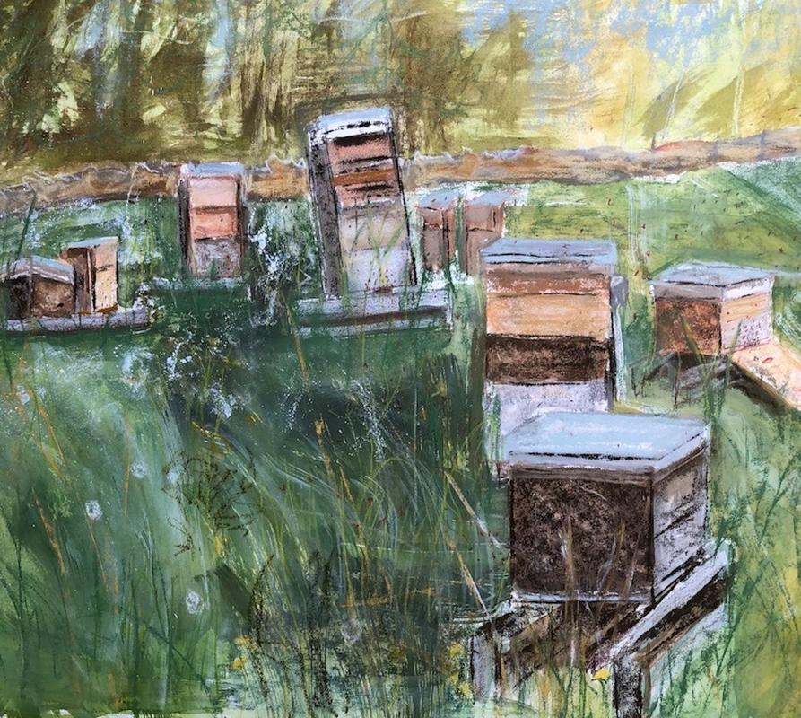 Beehives (detail)  mixed media image size: 75x50cm £850