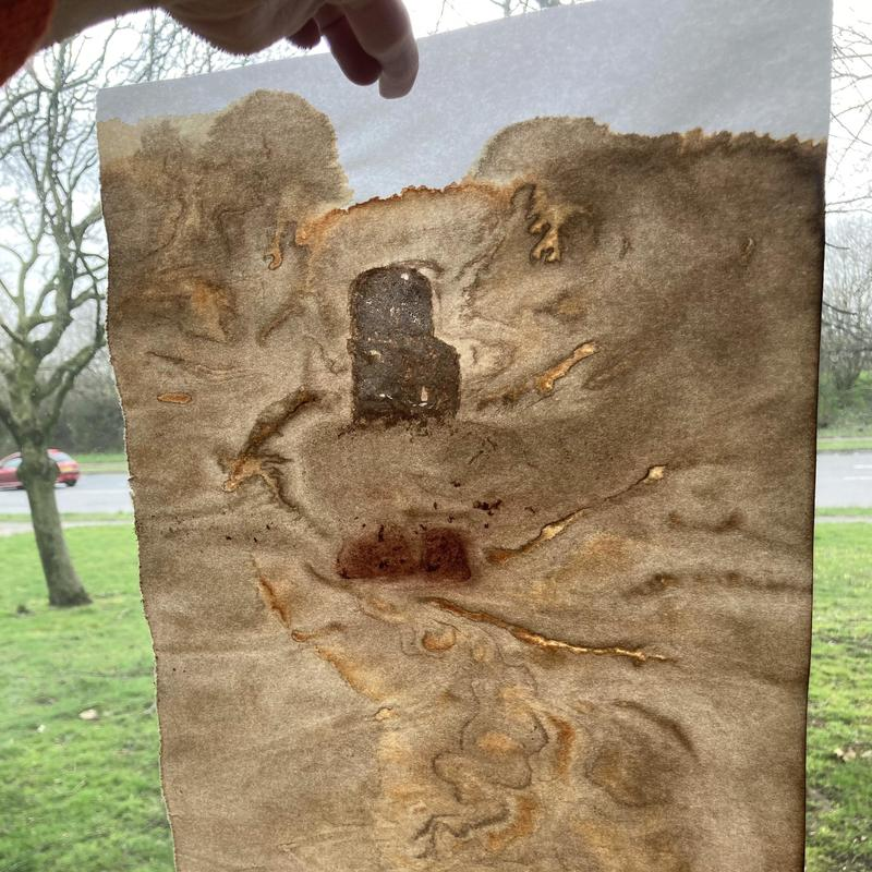 Cave in a Mars Landscape?  Piece created using Frozen Hedgerow Inks