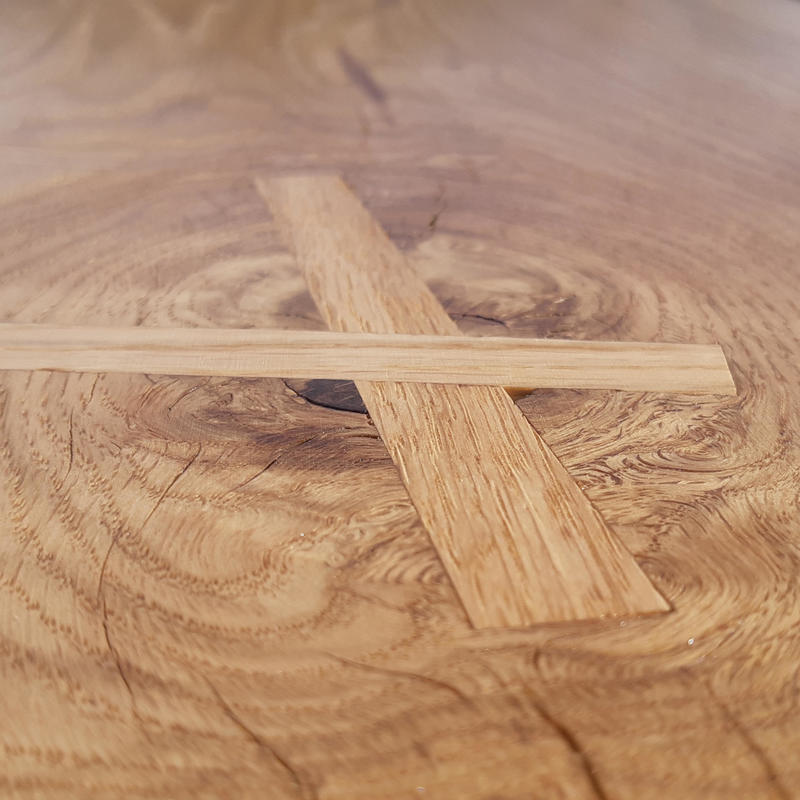 detail of outdoor bespoke table.