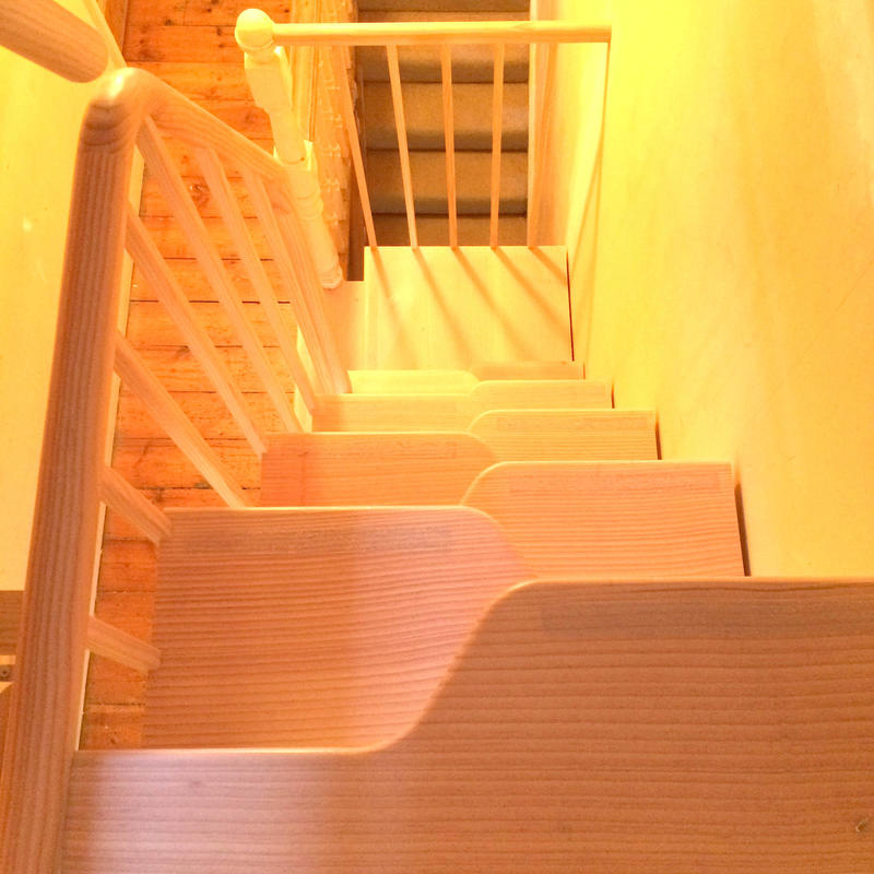 and alternating tread, space save staircase in Oxford.