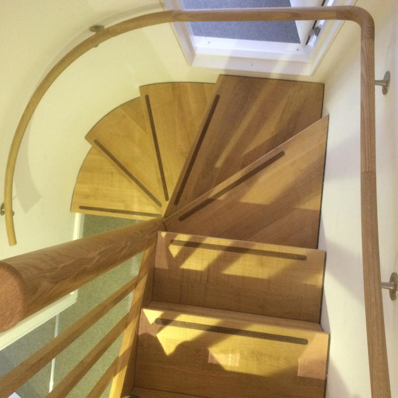 a bespoke staircase for a tight space in East Oxford.