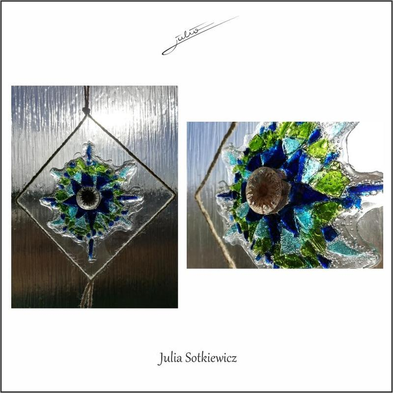Glass picture in blue - Julia Sotkiewicz