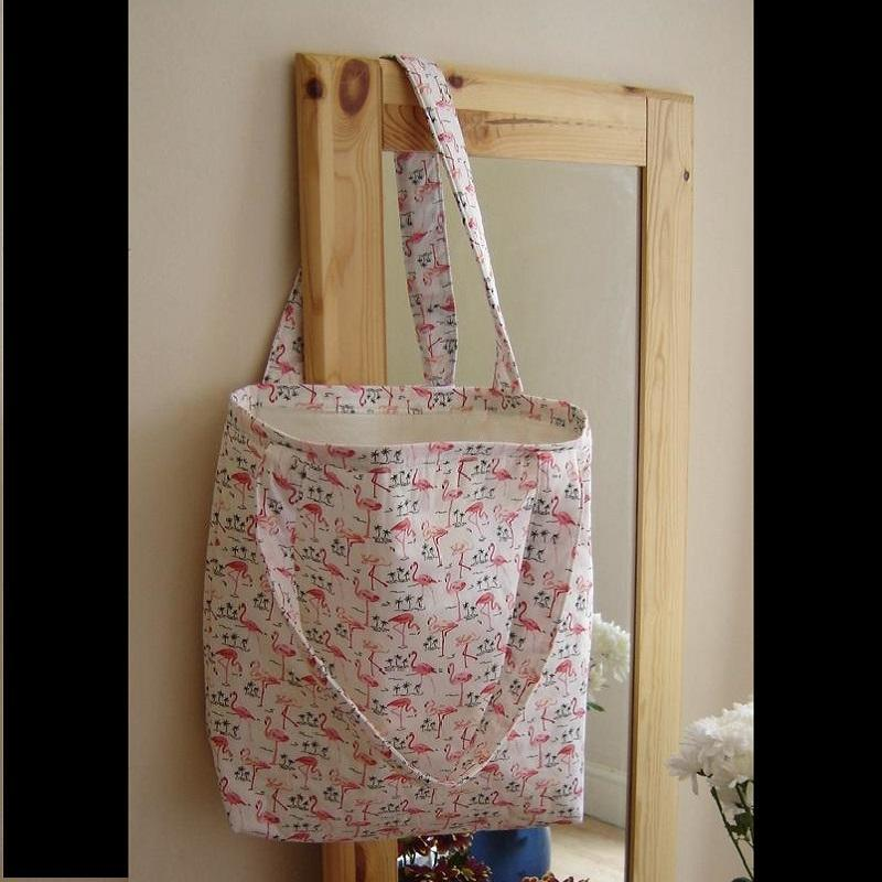 """Flamingo Tote Bag. £30. 16""""w x 14""""l x 3 ½ """"."""