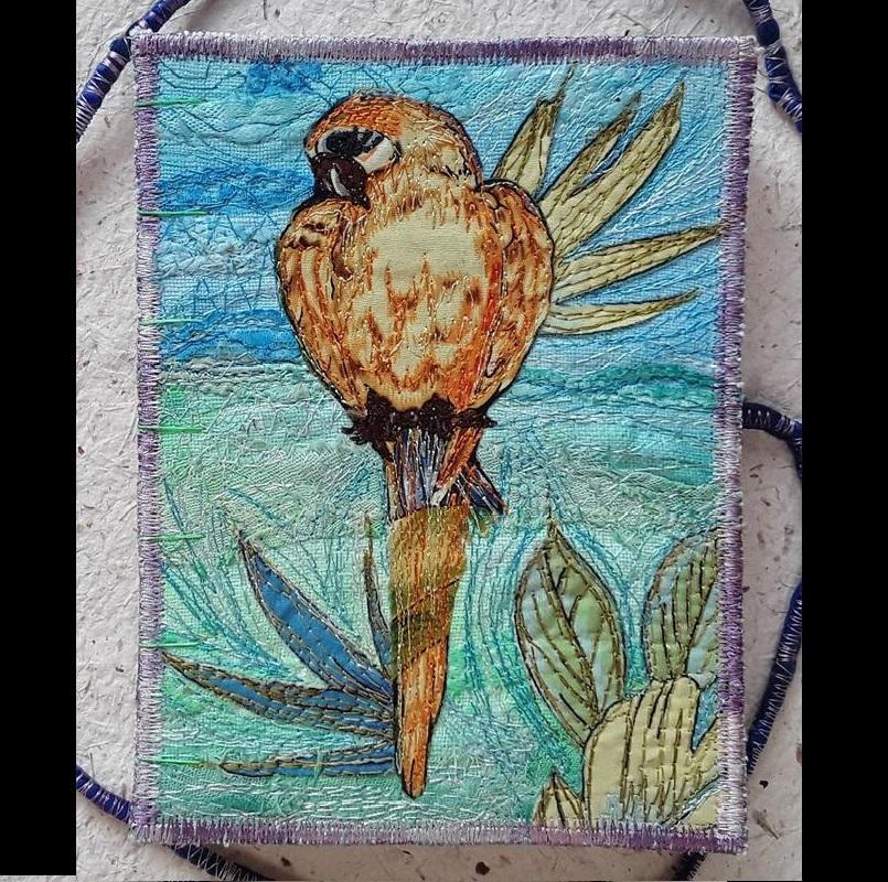 """Embroidered covered notebook. £45. 4½"""" x 5½"""" x ¾"""""""