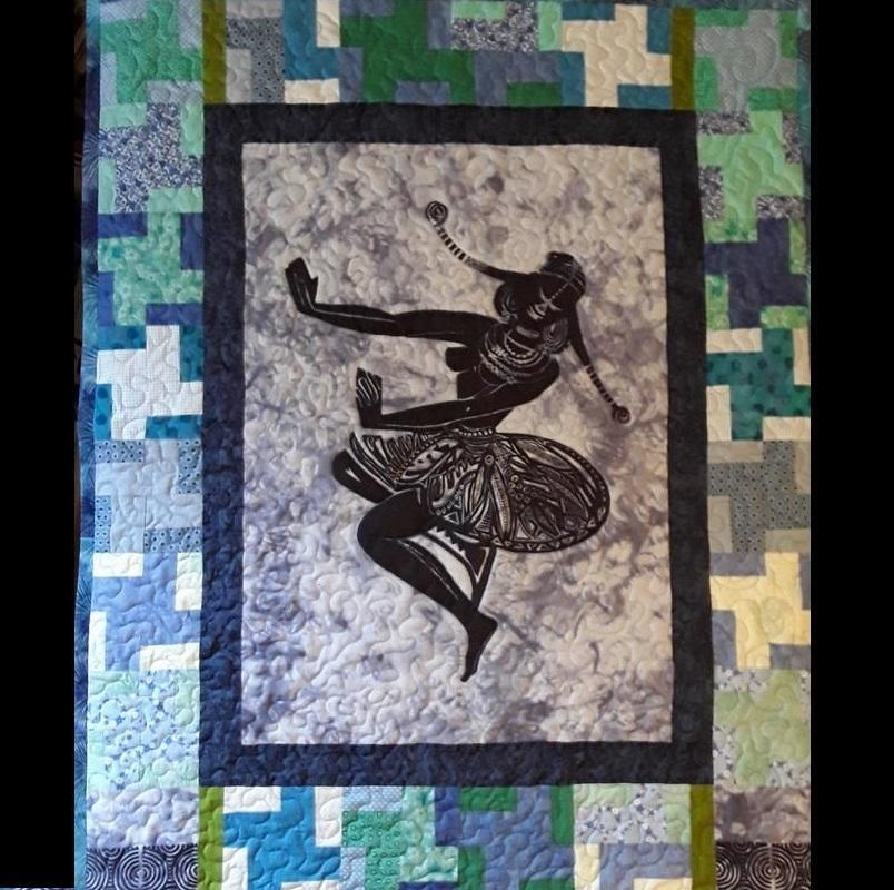 Quilt / Wall Hanging. £550. 110 cm w x 136 cm l.