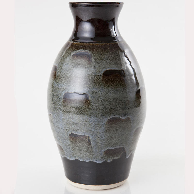 Big Vase £75. 30cm.Tenmoku glaze, wax resist with overglaze.