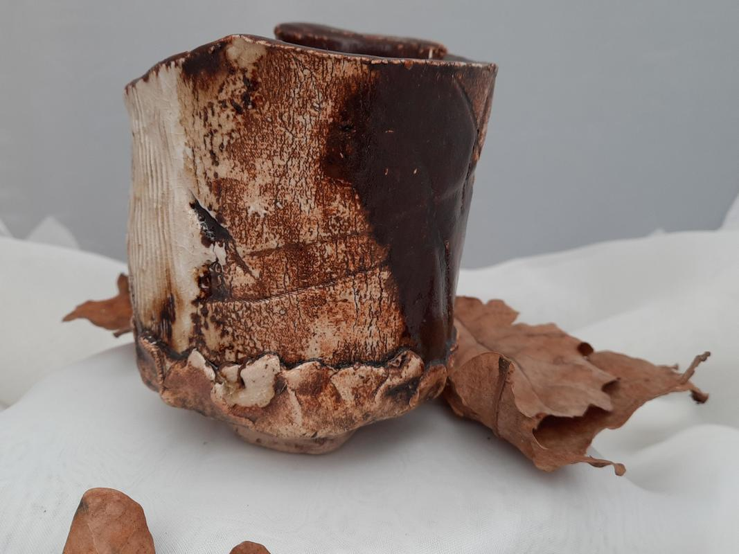 Japanese style tea cup- 'chawan' quirky and earthy