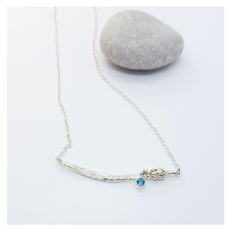 Silver and Topaz Driftwood Necklace