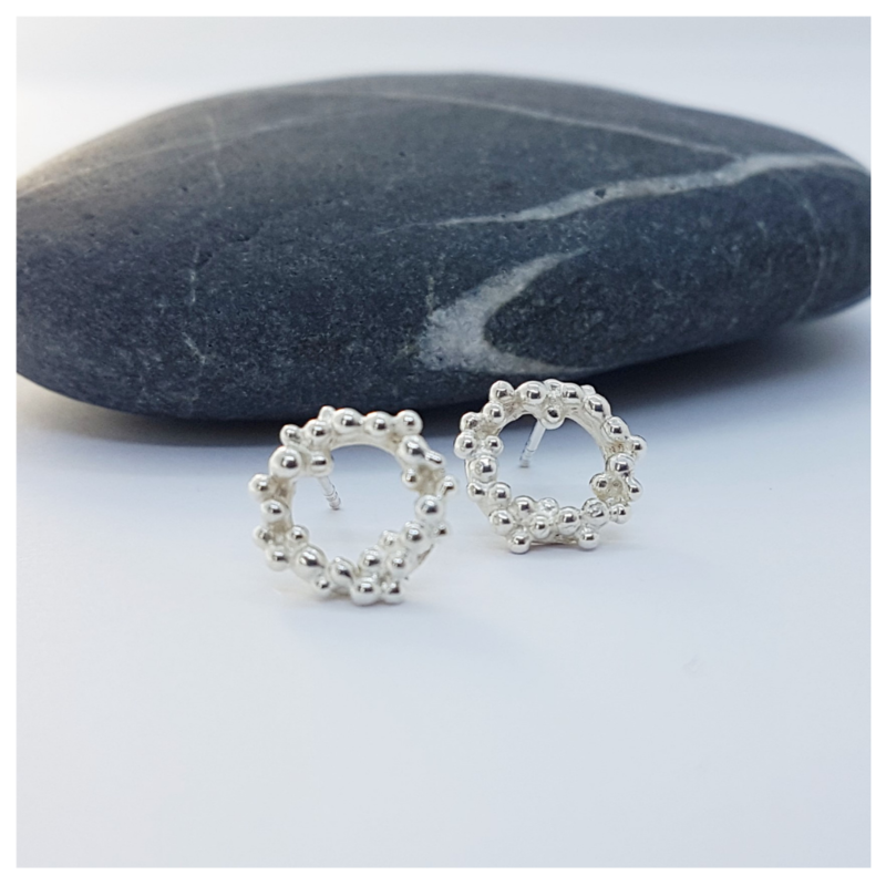 Silver Foam Earrings