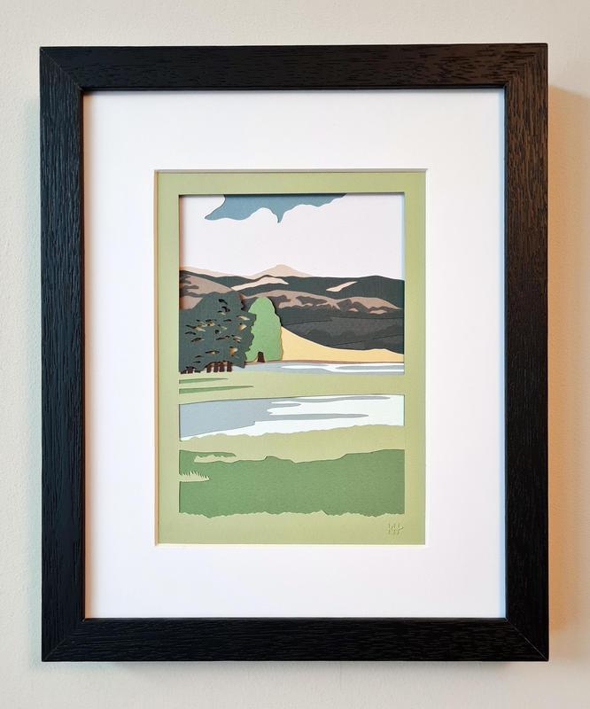 Kate Hipkiss Across the Lake, 28 x 23cm framed, £195.00 SOLD