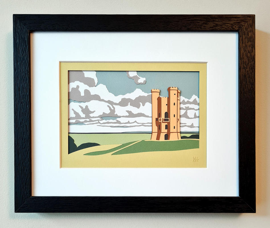 Kate Hipkiss Broadway Tower, 23 x 28cm framed, £195.00 SOLD